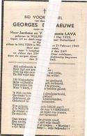DP. OORLOG 40-45   GEORGES DEGRAEUWE ° WULPEN 1923 - + HALTEREN DOOR BOM GEWETST 1945 - Religion & Esotérisme