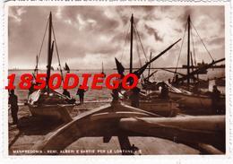 MANFREDONIA - REMI ALBERI PER LONTANE VIE F/GRANDE VIAGGIATA 1955 ANIMATA - Manfredonia