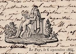 Faire-part Illustré Angelot / Décès 1834  / 43 Le Puy / Haute-Loire / François MATHIEU - Décès