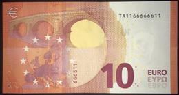 SPLENDIDA BANCONOTA SERIE  TA T002 A1 FDS  RADAR ,SOLO DUE CIFRE 1/6 - 10 Euro