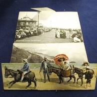 CARTE A SYSTEME FOLKESTNE COLOURED KUTANGLE CUT-OUT MULTIVUES ENGLAND 1911 - Folkestone