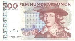 Sweden 500 Kronor 2007 P66c VF - Suède