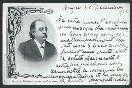Schweiz Suisse 1904: CP FRÉDÉRIC REHBERG PROFESSEUR DE PIANO Zu 58 Mi 50 Yv 63 En TRIO Avec O Morges 30.XII.04 Pour Bâle - 1882-1906 Armarios, Helvetia De Pie & UPU