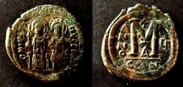 BYZANCE - JUSTIN II  -  FOLLIS - JUSTIN Et SOPHIA  -  CONSTANTINOPLE – BYZANTINE - Byzantine
