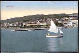 Croatia Crikvenica 1928 / Panorama, Molo, Luka, Jedrilica / Kriser 646 - Croatia