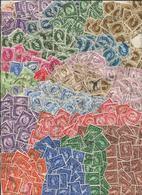 Grande-Bretagne - Vrac Timbres à L'effigie De La Reine Elisabeth II - Ed. Prédécimales (100 Grammes) - Stamps