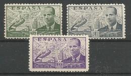 Spanien Espagne Spain Espana Mi.891/93 MNH / ** / Postfrisch 1942/47 Juan De La Cierva 3 Values Of The Set - 1931-Today: 2nd Rep - ... Juan Carlos I