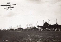 Troyes Aviation Circuit De L'Est Legagneux Sur Biplan Farman Ancienne Photo Branger 1910 - Aviation