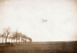 Chevilly Aviation Paulhan Sur Biplan Farman Record De Distance Ancienne Photo Rapid 1910 - Aviation
