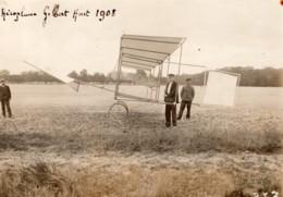 France Aviation Aeroplane Gilbert Planeur? Ancienne Photo Rol 1908 - Aviation