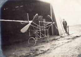 France Aviation Monoplan Witzig-Liore-Dutilleul Hangar Ancienne Photo 1910 - Aviation