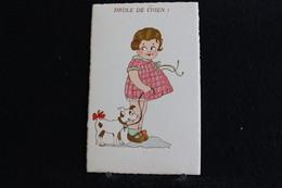 R-122 / Illustrateurs & Photographes - La Petit Fille Et Le Chien - Non Signés - Drole De Chien  ! - Humour