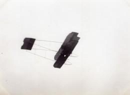 France Aviation Biplan Caudron ? En Vol Ancienne Photo 1910 - Aviation