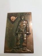 ARMEE SECRETE ..-- Plaquette Commémorative Laiton Ou Bronze Et émail . - Other