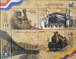 O) 2018 PARAGUAY, JOINT ISSUE WITH  ECUADOR -STEAM LOCOMOTIVE TIPE BALDWIN -CENTRAL RAILWAY STATION  CARLOS ANTONIO LPEZ - Paraguay