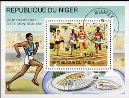 Leichtathletik Niger Block 15 O 2€ Sommer-Olympiade 1976 MONTREAL Lauf-Sprint Hojita M/s Bloc S/s Sheet Bf Olympics - Niger (1960-...)