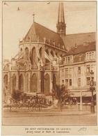 Knipsel Uit Oud Tijdschrift (11 X 15 Cm) Leuven Louvain 1929 Sint Pieterskerk Tram - Leuven