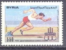 1991-Syria-Mediterranien Games Athens-  MNH** - Syria