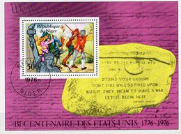 Unabhängigkeit USA 1976 Niger Block 13 O 2€ Kampf 200 Jahre US Schlacht Hoja Ss Bloc Military M/s Sheets Bf History - Us Independence