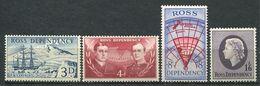 240 TERRE DE ROSS (Nle Zelande) 1957 - Yvert 1/4 - Expedition Transantarctique Vaisseau - Neuf ** (MNH) Sans Charniere - Neufs