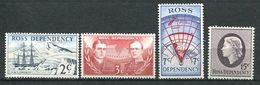240 TERRE DE ROSS (Nle Zelande) 1967 - Yvert 5/8 - Expedition Transantarctique Vaisseau - Neuf ** (MNH) Sans Charniere - Neufs