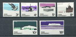240 TERRE DE ROSS (Nle Zelande) 1972 - Yvert 9/14 - Oiseau Avion Bateau - Neuf ** (MNH) Sans Charniere - Neufs