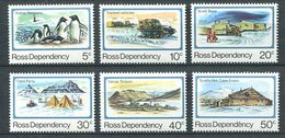 240 TERRE DE ROSS (Nle Zelande) 1982 - Yvert 15/20 - Base Scott Oiseau Manchot - Neuf ** (MNH) Sans Charniere - Neufs