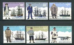 240 TERRE DE ROSS (Nle Zelande) 1995 - Yvert 38/43 - Explorateur Antarctique Navire Avion - Neuf ** (MNH) Sans Charniere - Neufs