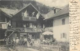 Suisse - Champery - Pension Mlle A. Perrin En 1904 - Très Belle Carte Rare Et Animée - VS Valais