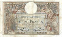 FRANCE 100 FRANCS 1938 P-86b VG/F SIGN. ROUSSEAU & FAVRE [FR038b] - 1871-1952 Circulated During XXth