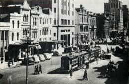 Australie - Photo Postcard Circa 1950/1960 - Tram In Busy Street - Adelaide
