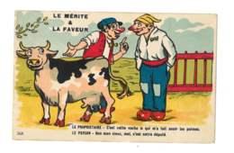 Le Mérite Et La Faveur - Paysan - Vache - 5398 - Humour