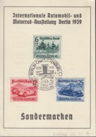 DR 686-688, FDC Auf Sonderkarte, IAA 1939 - Duitsland