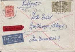 BERLIN 49, 2x 53 MiF, Auf Luftpost-Eilboten Mit Stempel: Berlin N20 19.7.1951 - Briefe U. Dokumente
