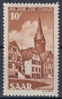 SAAR 296, Postfrisch **, 400 Jahre Ottweiler 1950 - Neufs
