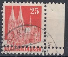 BiZone 87 III WB, Verzähnt, Gestempelt, Doppelzähnung, Bauten 1948 - Bizone