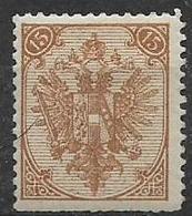 BOSNIA EZERGOVINA  1894-98 STEMMA DENT.12 E 1/2 UNIF. 6/I MLH VF - Bosnia Erzegovina