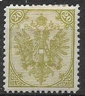 BOSNIA EZERGOVINA  1894-98 STEMMA DENT.12 E 1/2 UNIF. 7/I  MLH VF - Bosnia Erzegovina