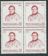 Italia, Italy, Italien, Italie 1968; Gioachino Rossini, Compositore, Composer, Compositeur. Quartina. Nuovi - Musique