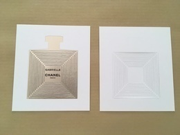 Carte Parfumée Perfume Card GABRIELLE * CHANEL * 7,3 X 8,3 Cm * R/V - Cartes Parfumées