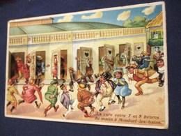 CARTE A SYSTEME HUMOUR PISSOTIERE TOILETTE W.C. MONDORF-LES-BAINS THERMES SANTE LUXEMBOURG Scato - Humour