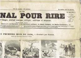 N° 113  Du 30 Mars 1850 LE JOURNAL POUR RIRE DESSINE PAR NADAR - Newspapers