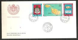 1989 ORDINE DI MALTA SMOM   Fdc Viaggiata Bellissima - Sovrano Militare Ordine Di Malta