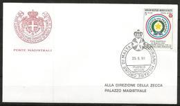 1990 ORDINE DI MALTA SMOM  Paraguay PA  Fdc Viaggiata Bellissima - Malte (Ordre De)