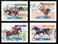 Canada (Scott No.1791-94 - Chevaux Canadiens / Canadian Horses) (o) Perf. 13,0 X 13,4 - 1952-.... Règne D'Elizabeth II