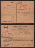 PETROLE - CARBURANT - ESSENCE - ESSO / 1954 PARIS EMA ILLUSTREE SUR CARTE (ref LE2671) - Pétrole