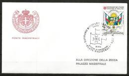 1991 ORDINE DI MALTA SMOM  Centrafricana PA  Fdc Viaggiata Bellissima - Malte (Ordre De)