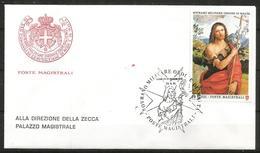 1991 ORDINE DI MALTA SMOM    Fdc Viaggiata Bellissima - Malte (Ordre De)