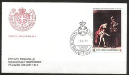 1990 ORDINE DI MALTA SMOM    Fdc Viaggiata Bellissima - Malte (Ordre De)