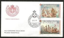 1989 ORDINE DI MALTA SMOM  Navi Boat  Fdc Viaggiata Bellissima - Malte (Ordre De)